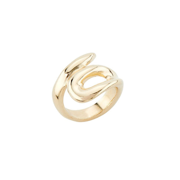 Tangled ring, gold
