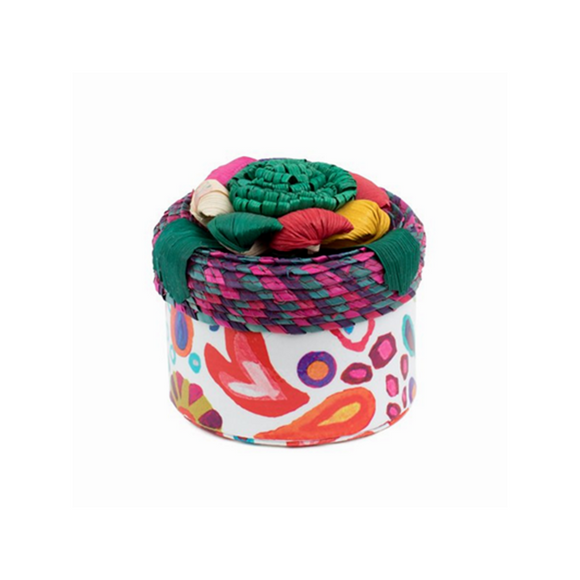 White Swirly Basic Trinket Box (7997)