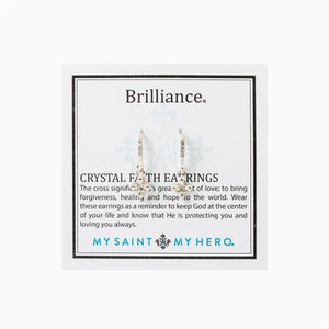 Brilliance Crystal Faith Earrings, Silver (EBRIF-S)