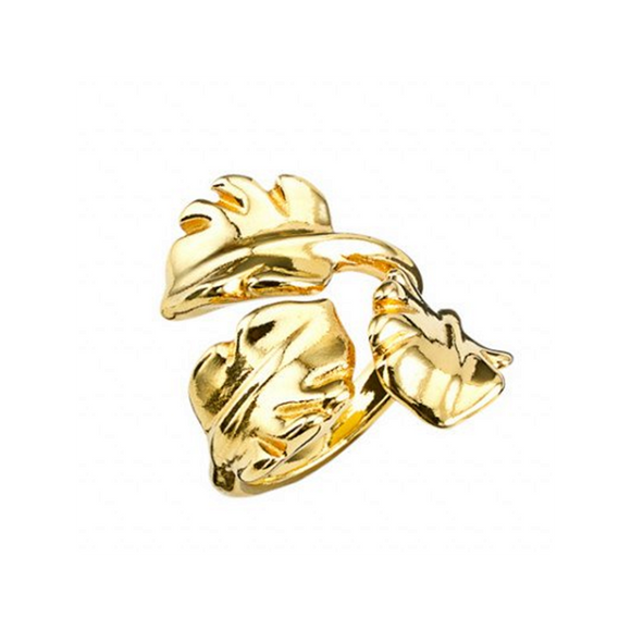 Leaves (Ring, Gold) (ANI0546ORO)