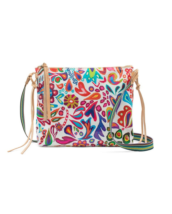 White Swirly Downtown Crossbody (6929)