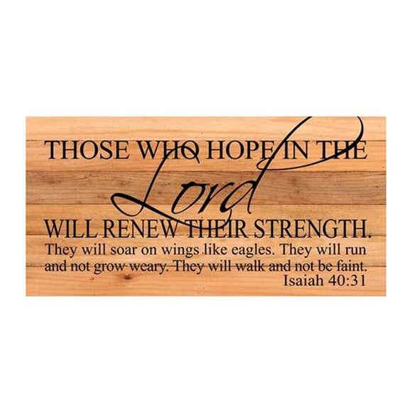 Those Who Hope In The Lord Will-Isaiah 40:31