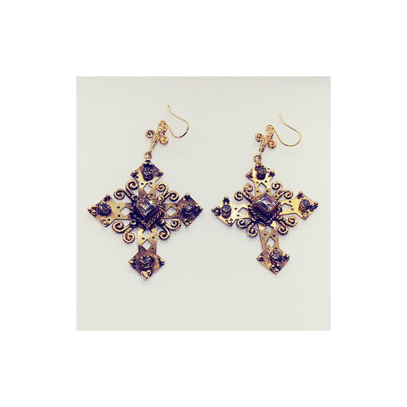 The Paloma Cross Earrings (E:TPC-bg-sq1-a1)