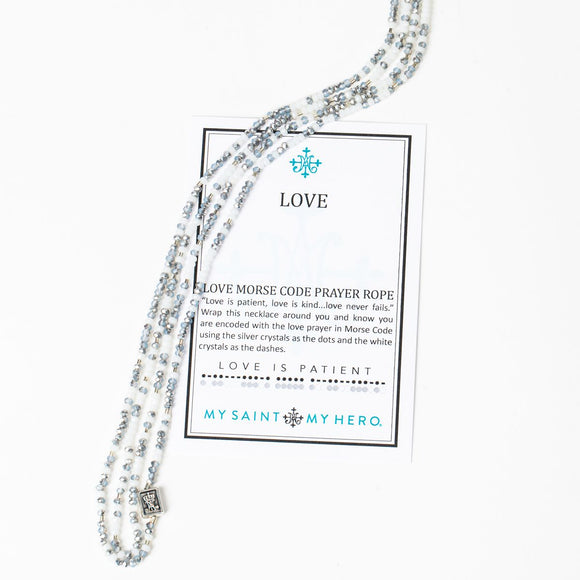 LOVE MORSE CODE PRAYER ROPE (NK00062-S)