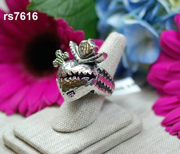 Sacred Heart Ring with Cross (RS7616)