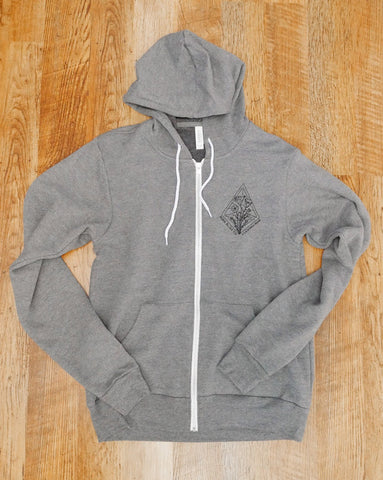 California Poppy :: Zip Up Hoodie
