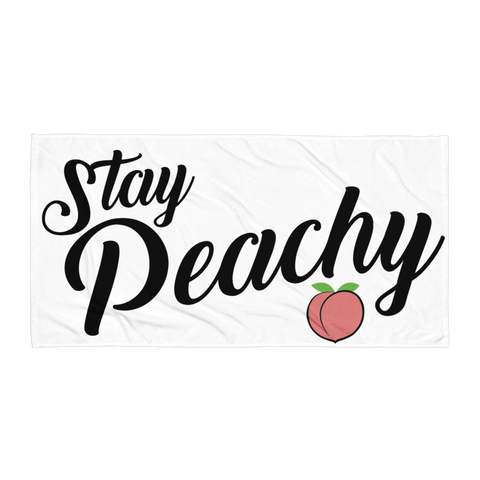 Stay Peachy Beach Towel
