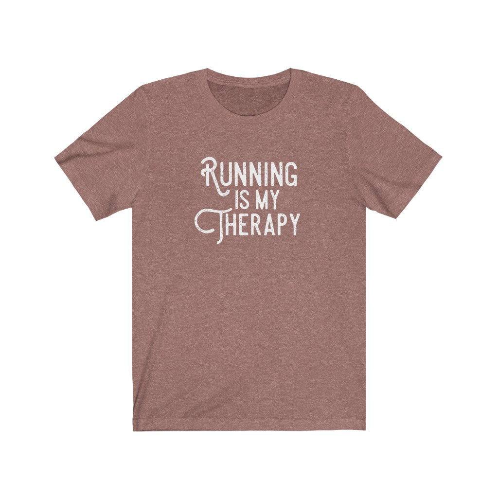 Running is My Therapy Unisex T-shirt