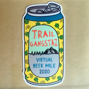 Trail GangstAZ Virtual Beer Mile Sticker