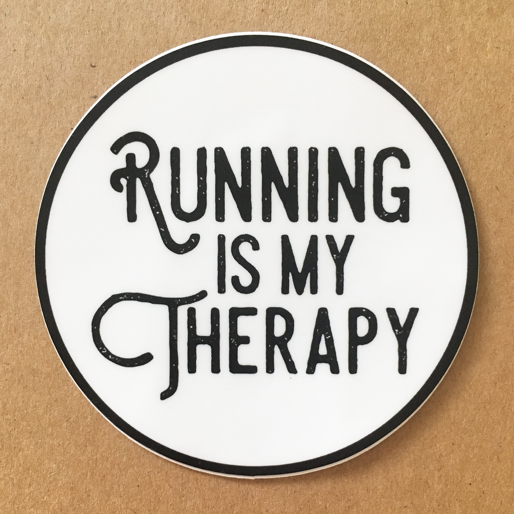 Running is my Therapy Circle Sticker