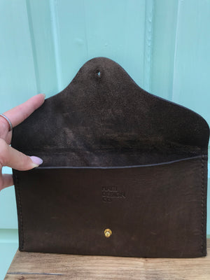 Brown Sparrow Studio Leather Clutch