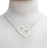 Large Initial Tag Necklace