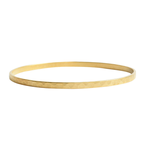 Hammered Gold Brass Bangle