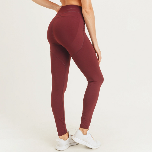 Booty-Pop Highwaist Leggings - Burgundy