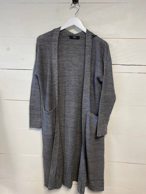 Grey Neva Long Open Cardigan