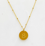 Small Initial Tag Necklace