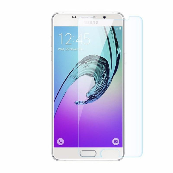 Samsung A7 (2015 Edition) TPU Soft Clear Phone Case + Anti-Fingerprint Scratch-Resistant Tempered Glass Screen Protector + 360° Adjustable Phone Ring