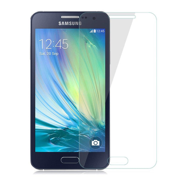 Samsung A5 (2015 Edition) TPU Soft Clear Phone Case + Anti-Fingerprint Scratch-Resistant Tempered Glass Screen Protector + 360° Adjustable Phone Ring