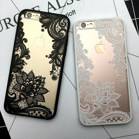 Flower Lace Full edge Protection Mandala Vintage Case For iPhone