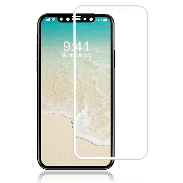 iPhone X TPU Soft Clear Phone Case + Anti-Fingerprint Scratch-Resistant Tempered Glass Screen Protector + 360° Adjustable Phone Ring