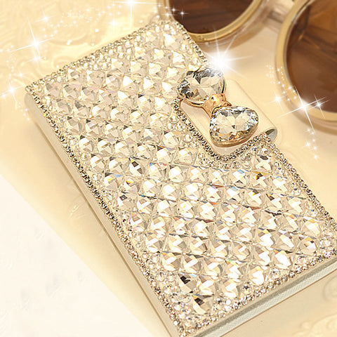 iPhone Luxury Crystal Ribbon Diamond Case