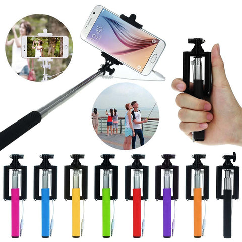 Extendable Colorful Selfie Stick