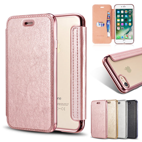 iPhone Leather Flip Phone Case with Card Slot
