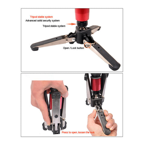 360-Degree Mini Tripod for Monopod Stand Base