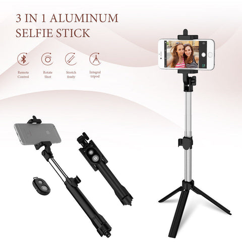 3 in 1 Bluetooth Selfie Stick w/ Controller