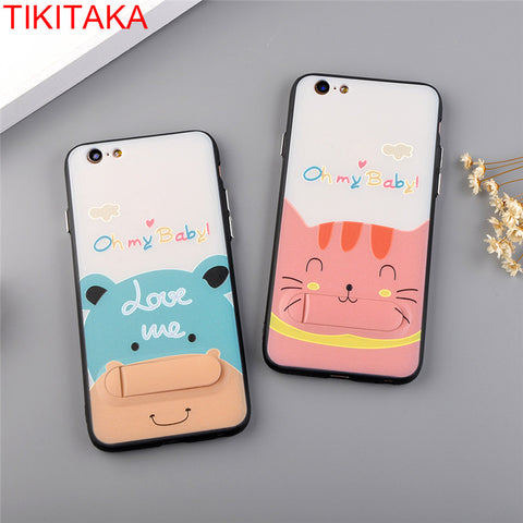iPhone Cartoon Cute Cat Case with Stand