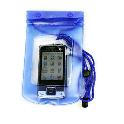 Blue Transparent Waterproof Phone Pouch