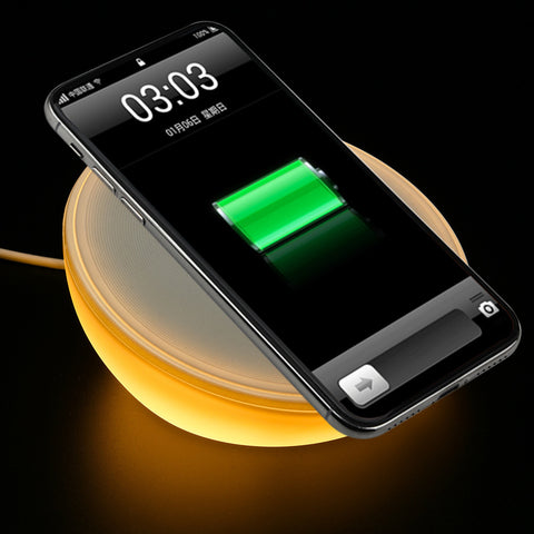 Dual Purpose Wireless Charger Pad and Alarm Clock