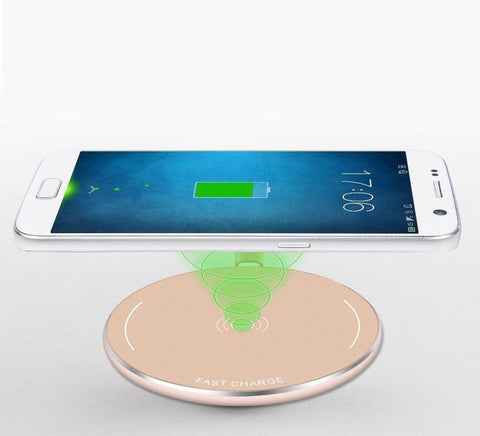 Fast Charge Round Chrome Wireless Charger Pad