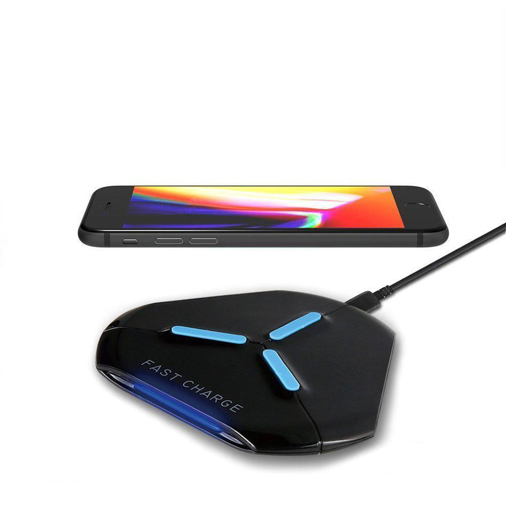 Triangle Fast Charge Wireless Charger Pad with Light Indicator