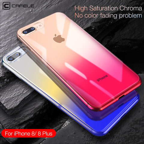 iPhone 8 Cases Mirror Glare Transparent Case