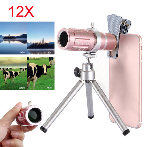 12x Optical Telescope Lens Kits With Tripod
