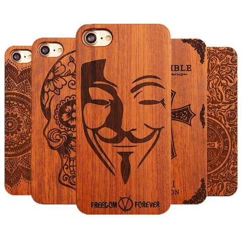 Luxury Wood Phone Cases for iPhone