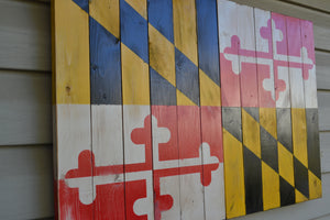 Maryland Flag - Torched Timber