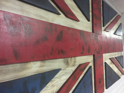 Union Jack Flag - Torched Timber