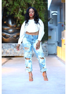 Wicked Relaxed Bleached Jeans