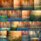 Bluebell Fine Art Digital Backgrounds. A Set of 23 Backgrounds.