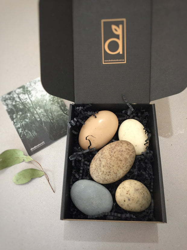 $36 river pebbles gift box