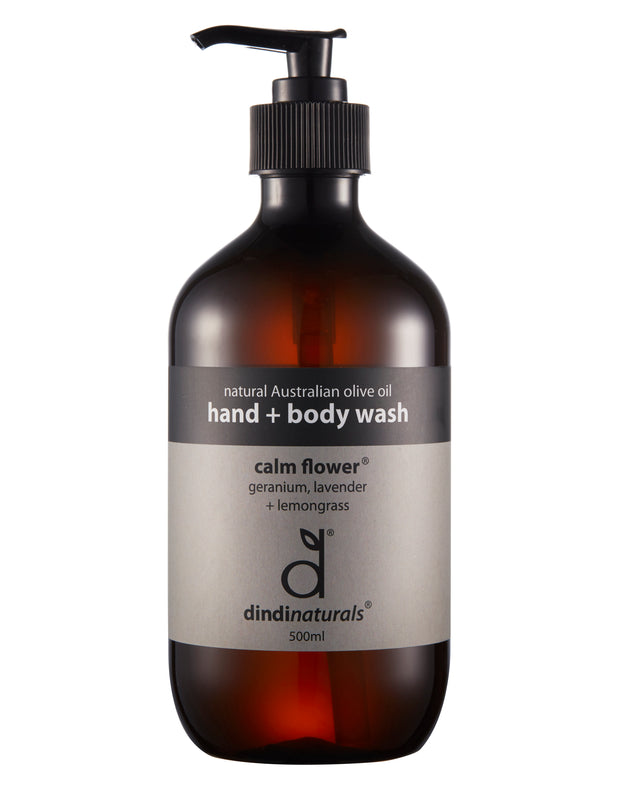 hand + body wash calm flower 500ml