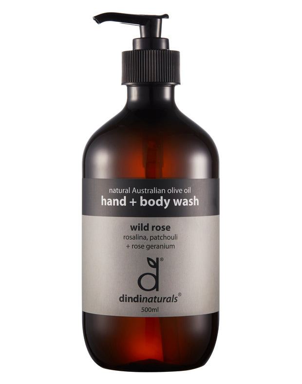 hand + body wash wild rose 500ml