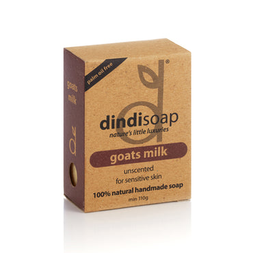 goats milk unscented bar soap 110g - boxed