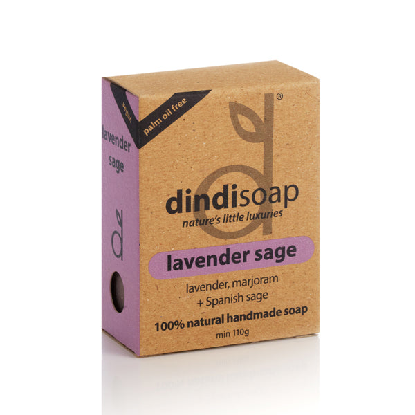lavender sage bar soap 110g - boxed