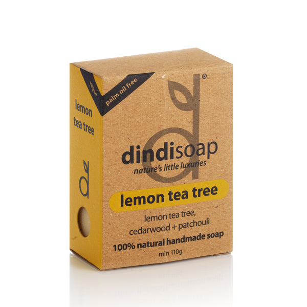 lemon tea tree bar soap 110g - boxed