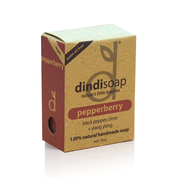 pepperberry bar soap 110g - boxed