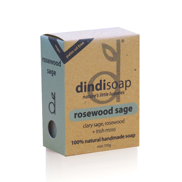 rosewood sage bar soap 110g - boxed
