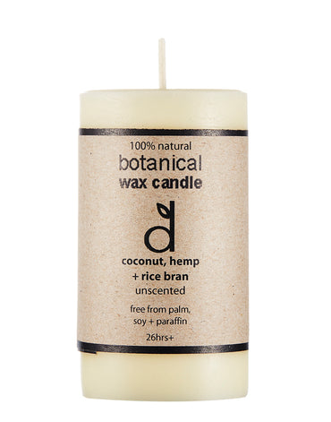 botanical wax candle unscented
